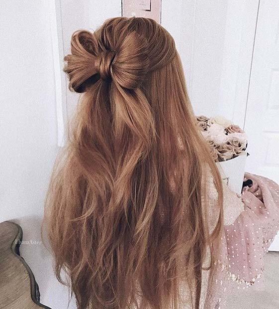 Cute Bow Hairstyle for Bridesmaid Hair Ideas