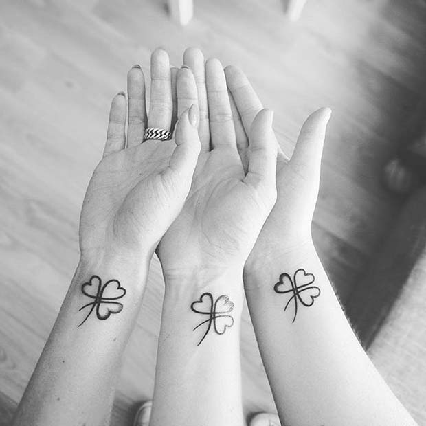 Cute Matching Wrist Tattoos for Sister Tattoos