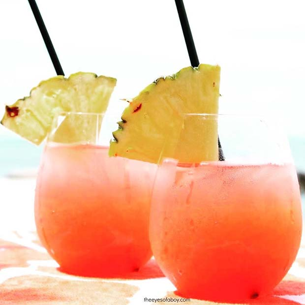 Tropical Rum Punch for Summer Cocktails for a Crowd