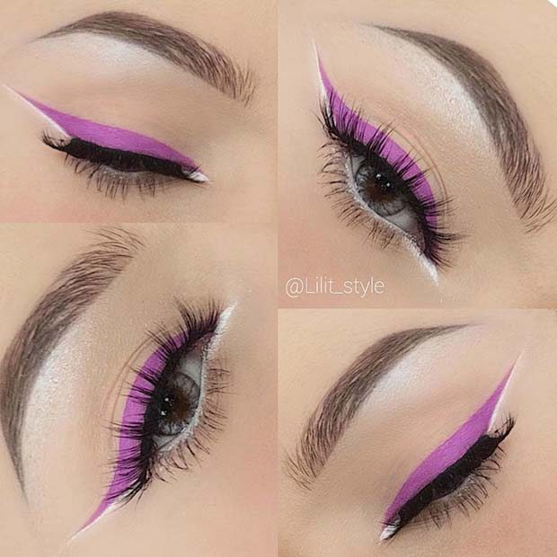 Vibrant Eyeliner for Summer Makeup Ideas