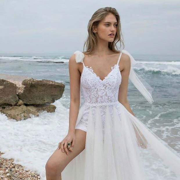 Floaty Beach Bridal Dress for Summer Wedding Dresses for Brides
