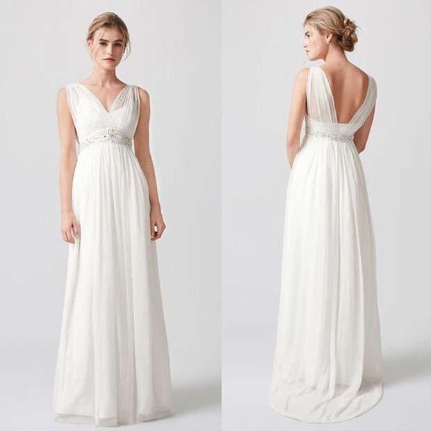 Empire Waist Wedding Dress for Summer Wedding Dresses for Brides