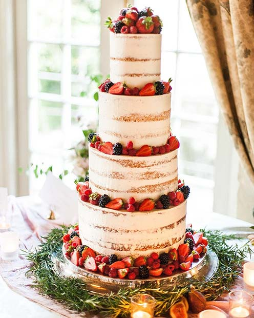Summer Berry Cake For Wedding Cakes