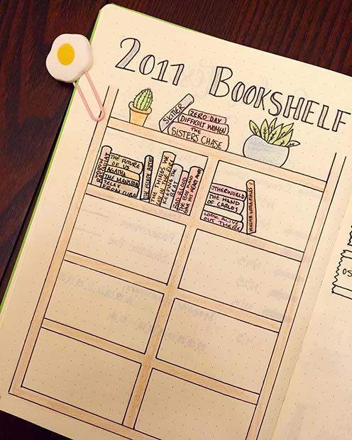 Bookshelf for the Books You Have Read for Bullet Journal Ideas