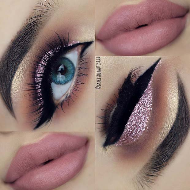 Rose Glitter for Summer Makeup Ideas