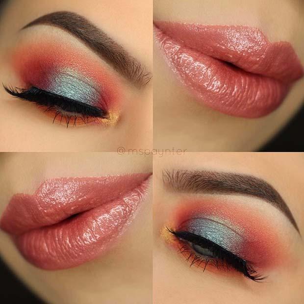 Bold Eye Shadow Blend for Summer Makeup Ideas