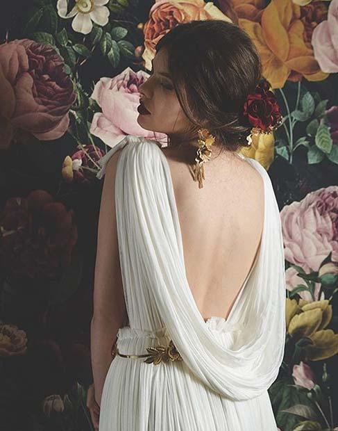 Toga Inspired Goddess Dress for Summer Wedding Dresses for Brides