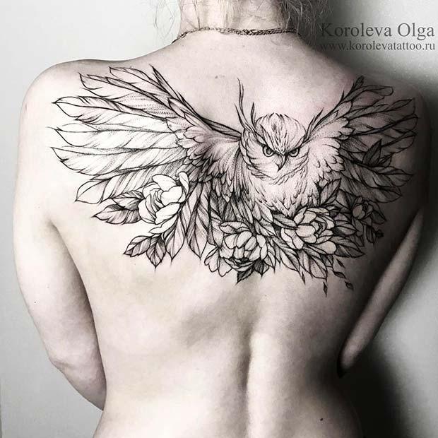 Bird Tattoo for Badass Tattoo Idea for Women