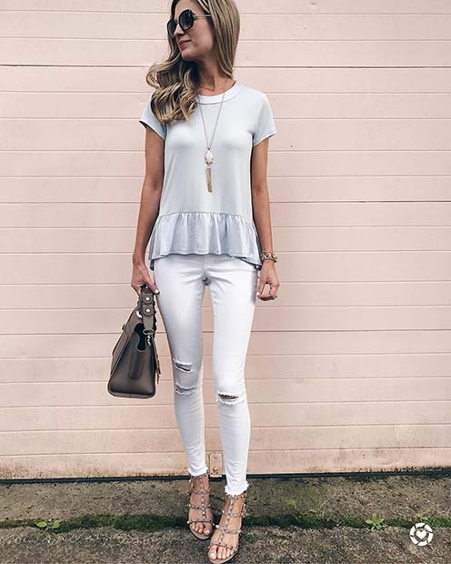 Light Top And Jeans For Casual Summer Outfits