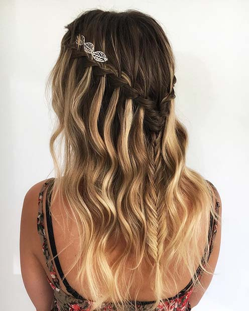 Waterfall Braid Hairstyle for Summer