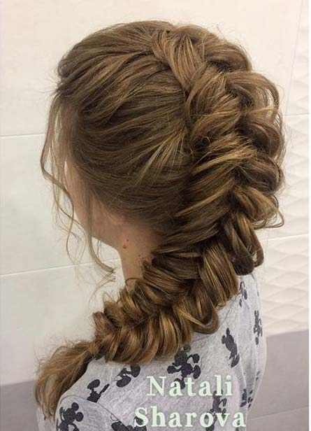 Loose Fishtail Braid with Volume