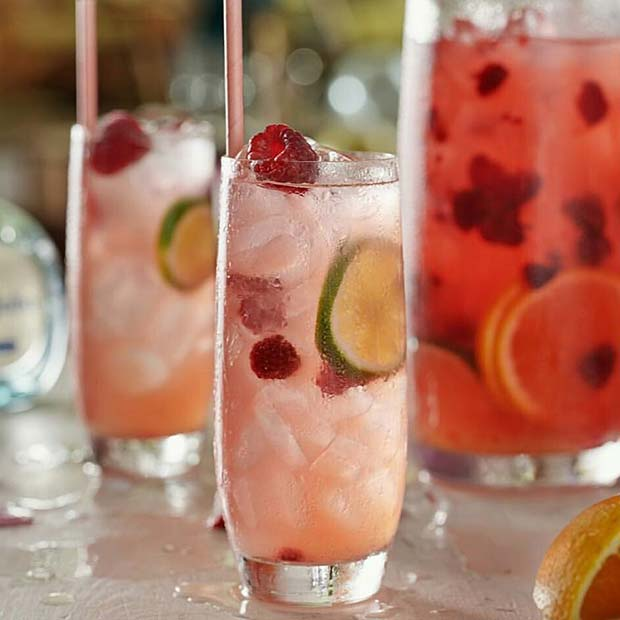 Summer Raspberry Cocktail for Girly and Delicious Summer Cocktail