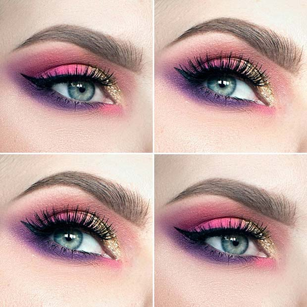 Pink and Purple Eye Makeup for Summer Makeup Ideas