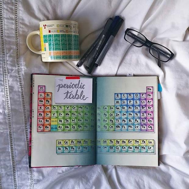 Periodic Table Page for Bullet Journal Ideas