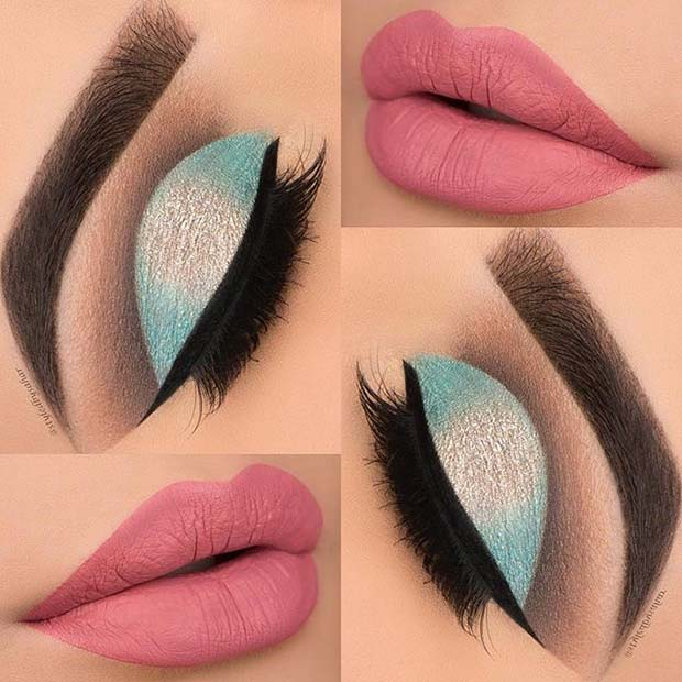 Turquoise and Pink Combo for Summer Makeup Ideas
