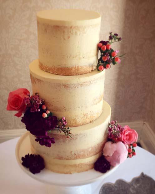 Summer Flower Three Tier Wedding Cake for Summer Wedding Cakes