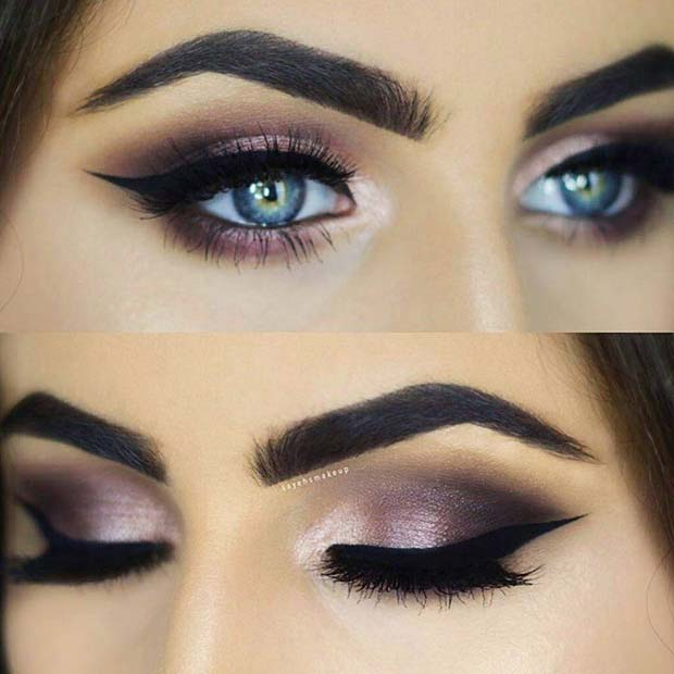 Eye Makeup Idea for Blue Eyes