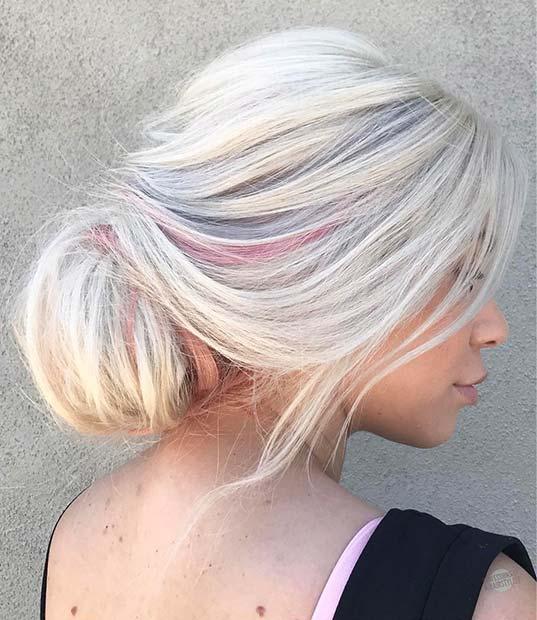 Loose Low Bun for Bridesmaid Hair Ideas