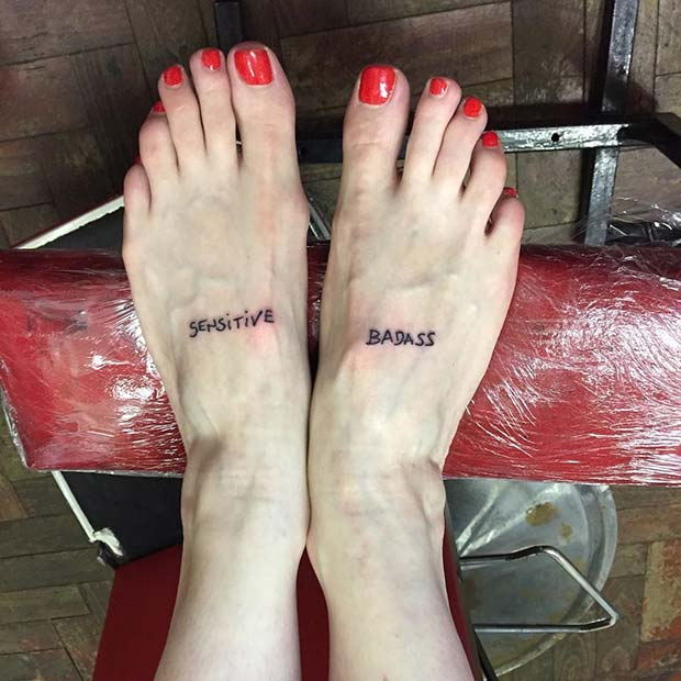 Badass Foot Tattoo for Badass Tattoo Idea for Women