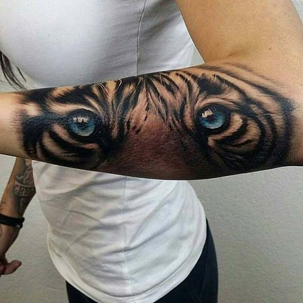Tiger Tattoo for Badass Tattoo for Women