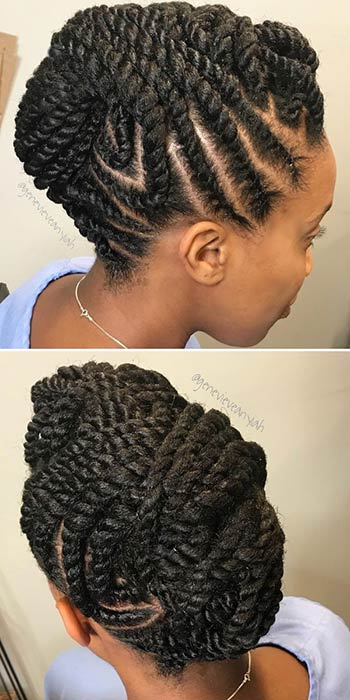 Marley Twists Updo