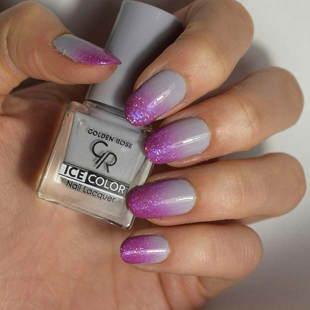 Ombre Nail Art for Elegant Nail Designs for Short Nails