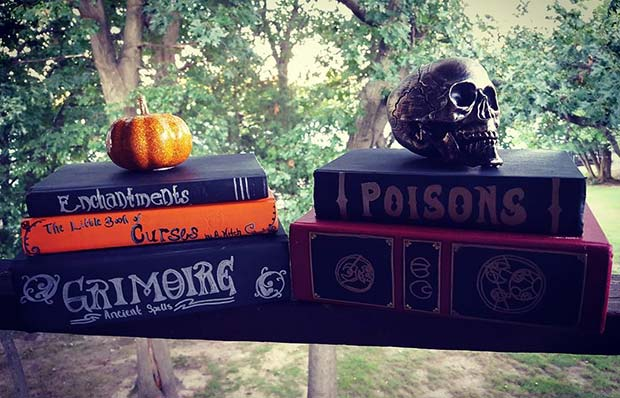 Witches Books for DIY Halloween Decor
