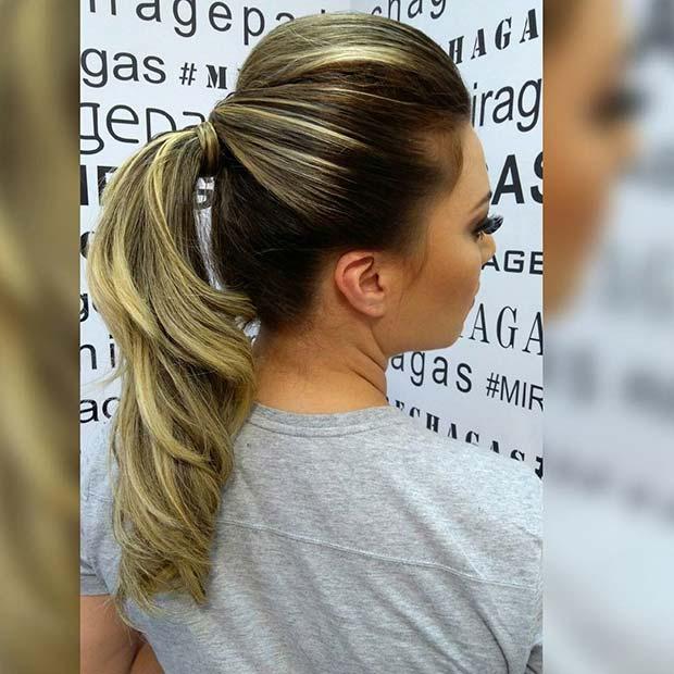 Bouffant Ponytail for Elegant Ponytail Hairstyles