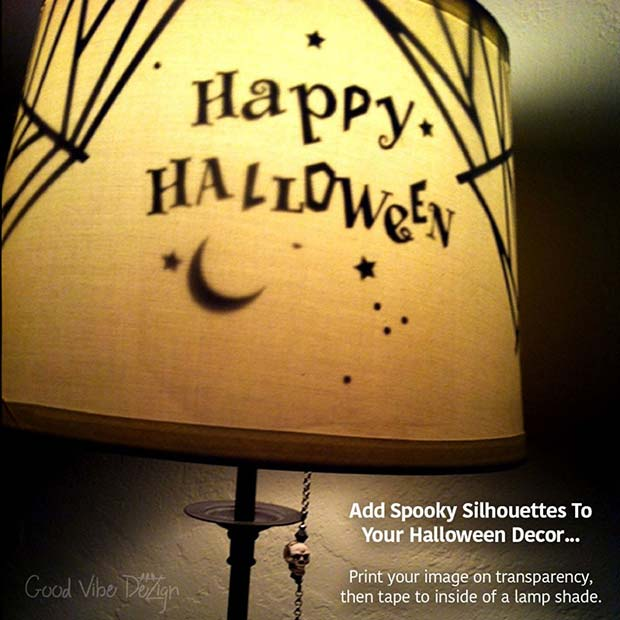 Halloween Lamp Silhouettes for DIY Halloween Decor