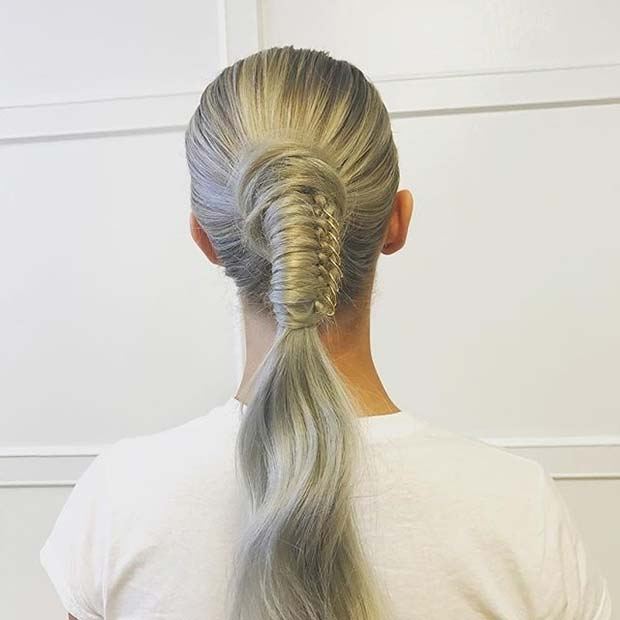 Stylish Ponytail with Hair Rings for Elegant Ponytail Hairstyles