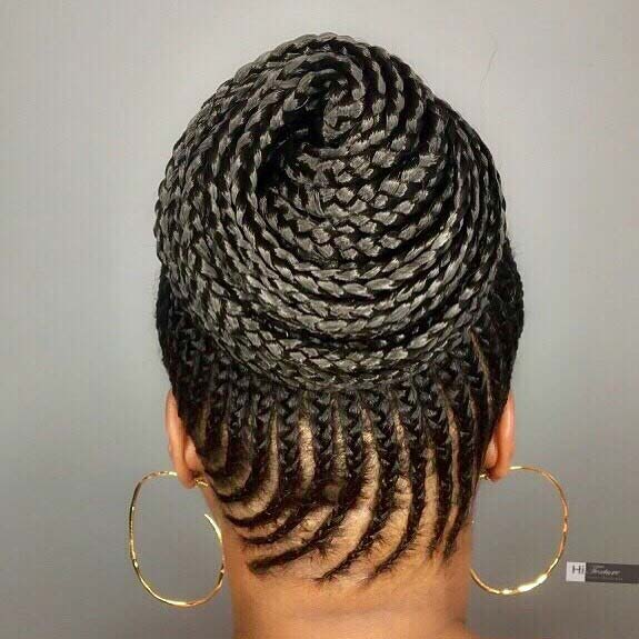 Summer Cornrow Swirl for Summer Protective Styles for Black Women