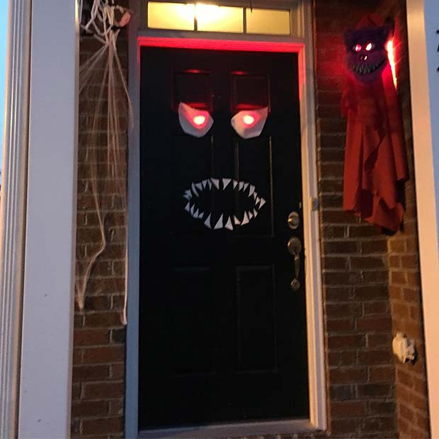 Scary Monster Door for DIY Halloween Decor