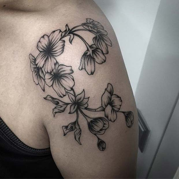 23 Beautiful Flower Tattoo Ideas For Women: 12 More Beautiful Flower Tattoo Ideas For Women