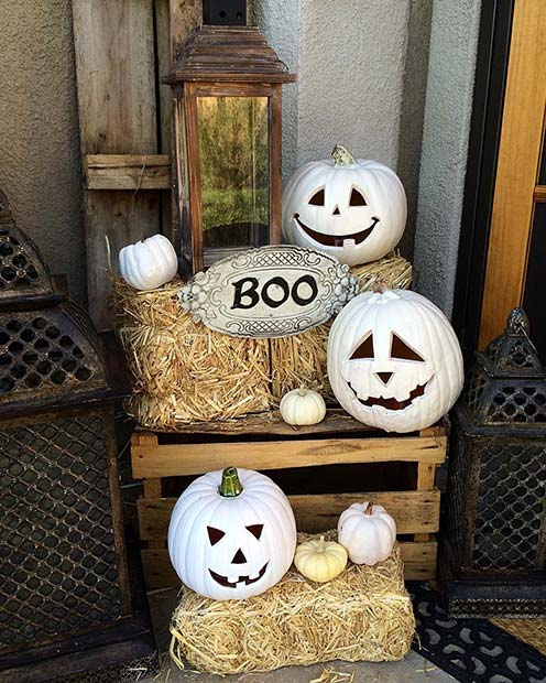 Spooky White Pumpkins for DIY Halloween Decor