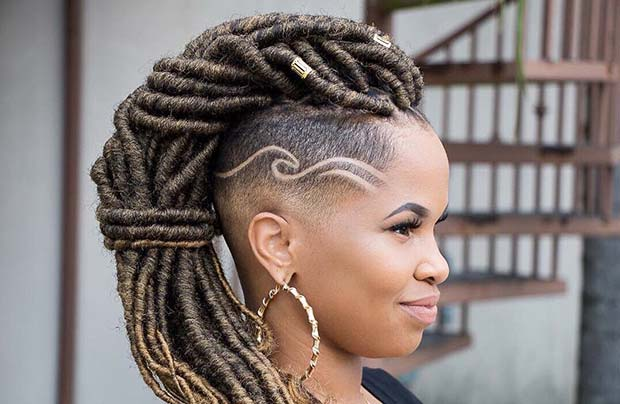 Edgy Loc Hairstyle for Summer Protective Styles for Black Women