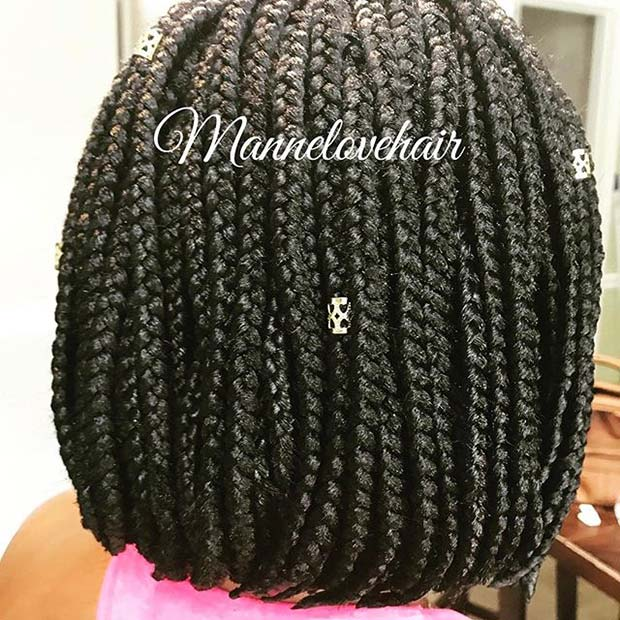 Braided Bob for Summer Protective Styles for Black Women