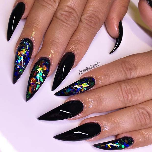 21 Bold Pointy Nails to Try in 2018 | StayGlam