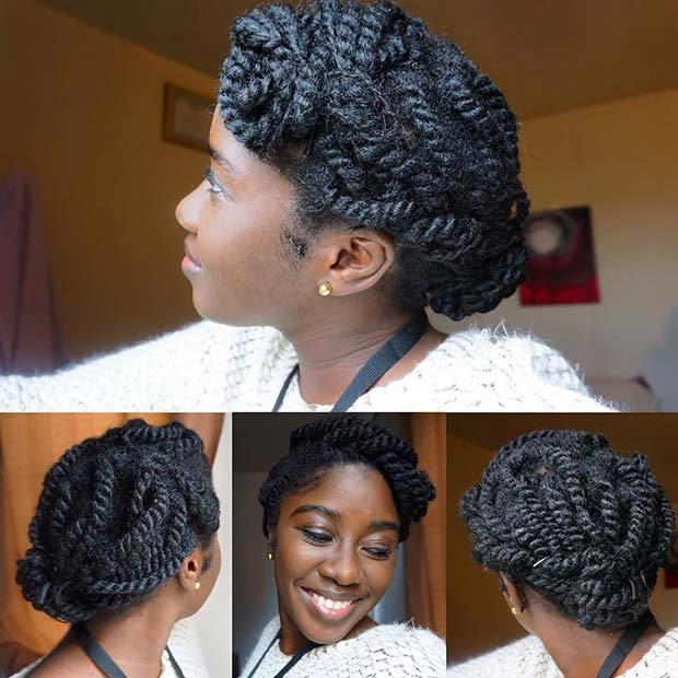 Small Marley Twists Updo