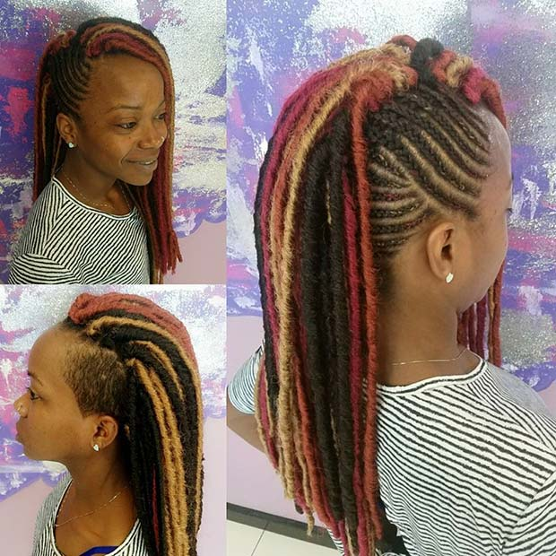 Funky Multi Tone Protective Style for Summer Protective Styles for Black Women