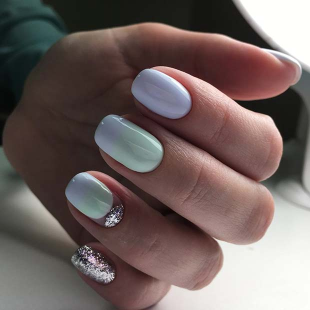 Funky Glitter Nails for Elegant Nail Designs for Short Nails