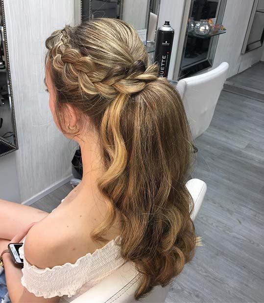 Elegant Side Braid Ponytail for Elegant Ponytail Hairstyles
