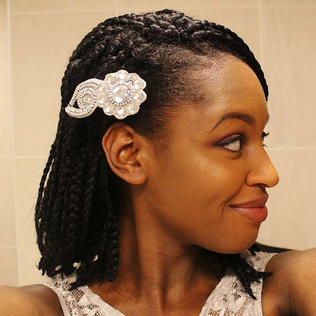 Accessorized Braided Bob for Braided Bobs for Black Women