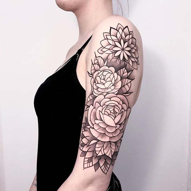 23 Beautiful Flower Tattoo Ideas for Women