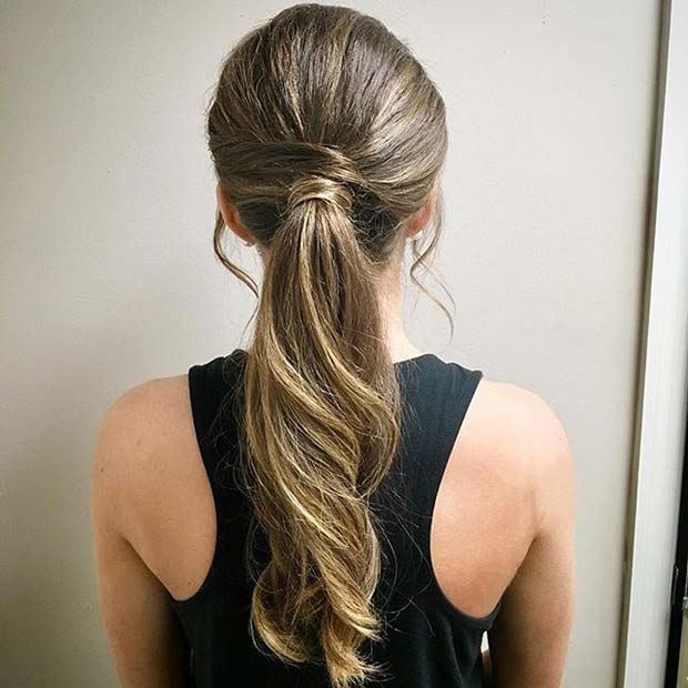 Pretty Wrap Around Ponytail for Elegant Ponytail Hairstyles