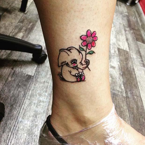 Cute Cartoon Elephant Design for Elephant Tattoo Ideas