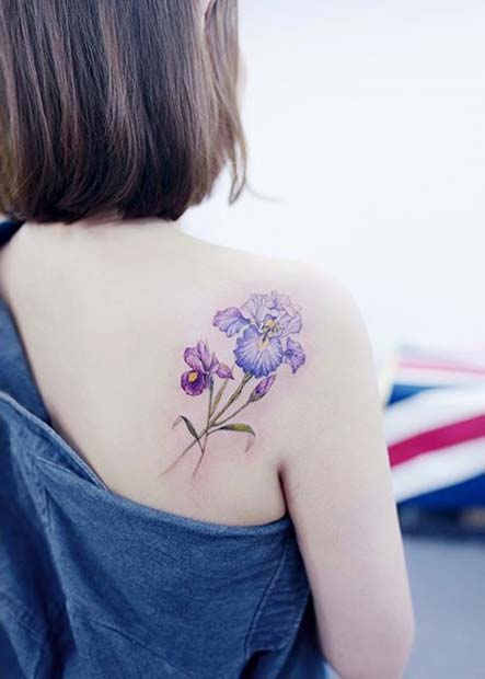 Pretty Floral Back Tattoo for Flower Tattoo Ideas for Women
