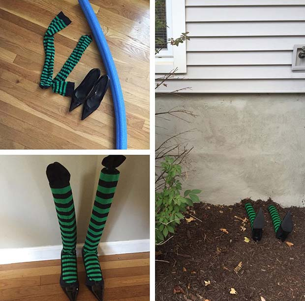 Wicked Witches Feet for DIY Halloween Decor