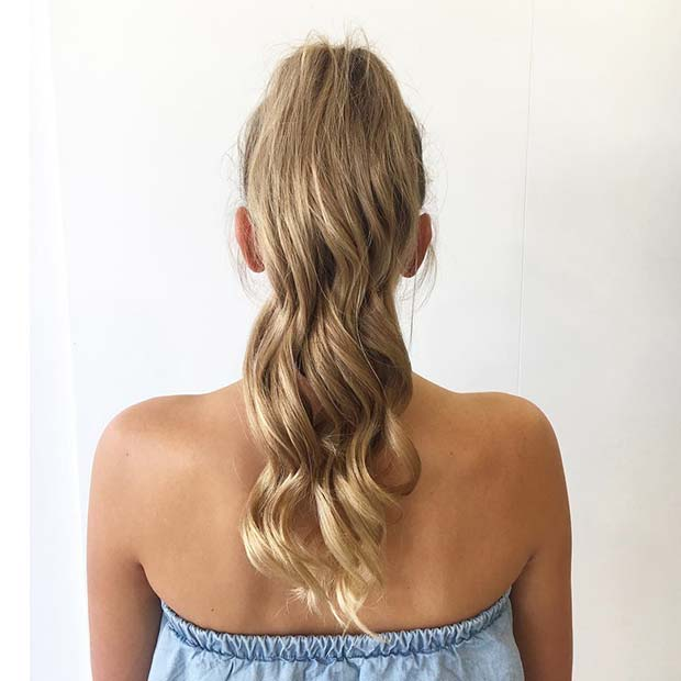 Simple and Chic Ponytail for Elegant Ponytail Hairstyles