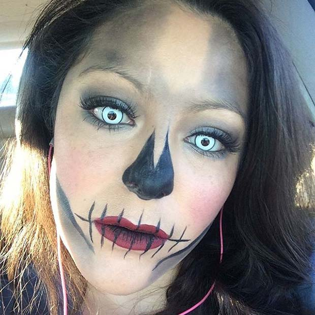 Scary Skull Makeup for Easy Halloween Makeup Ideas
