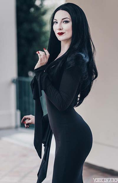 Morticia Addams Cosplay Dress